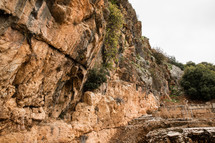 rocky cliffs in the holy land