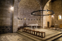 alar in an ancient church