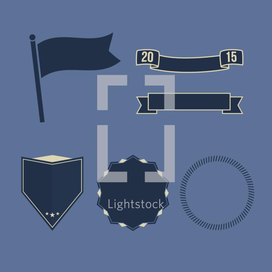 badges, flag, banner, 2015