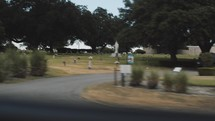 passing a cemetery