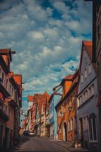 Street of a European village.