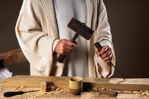 carpenter hands of Christ