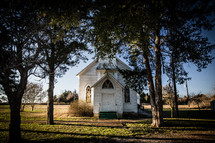 old rural white church