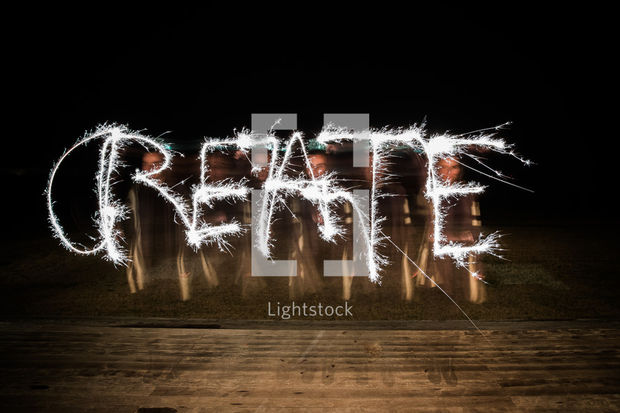 create with sparklers