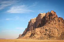 red rock cliffs in Jordan