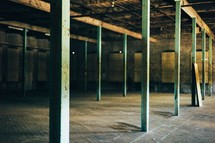 empty warehouse building
