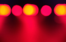 bokeh red lights