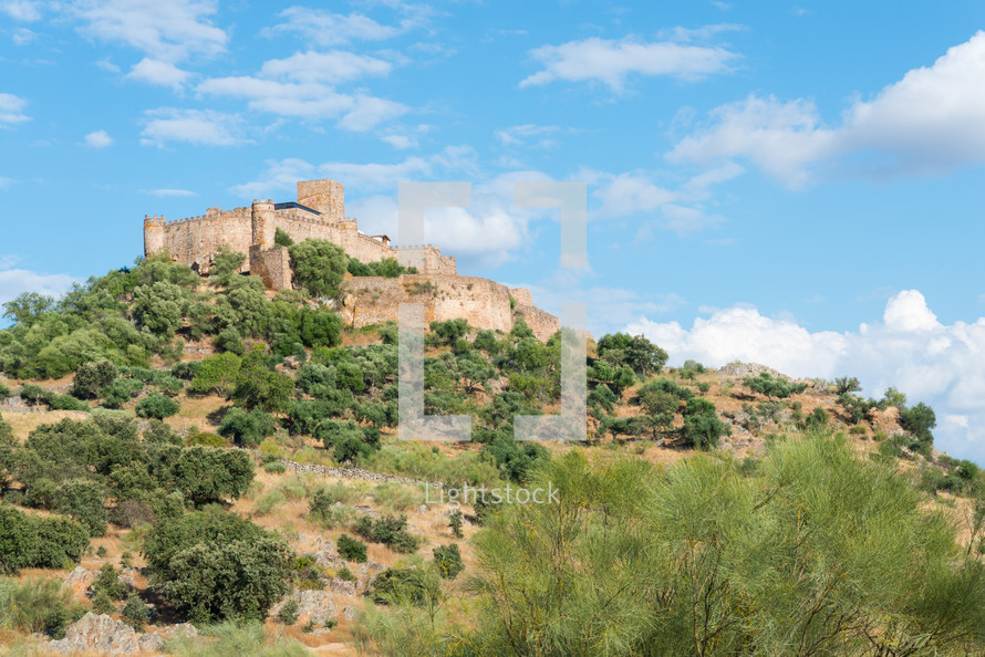 Castle of Alconchel, Badajoz,Extremadura,  Spain