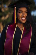 female African American graduate