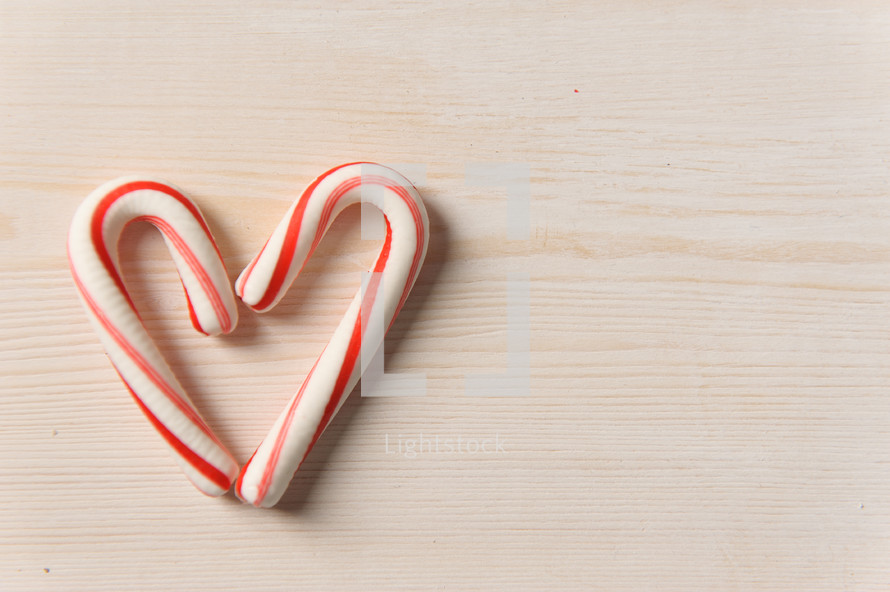 candy cane in the shape of hearts