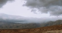 Storm clouds moving over the Anza-Borrego desert