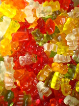 lots of colorful gummi bears,  kids, gummi, gummy, bear, bears, jelly, color, colorful, children, near, little, happy, cheerful, jolly, bright, joy, young, youngsters, infants, offspring, yellow, orange, red, pink, purple, blue, green, white, play, playing, toy, games, colour, sweet, sweets, food