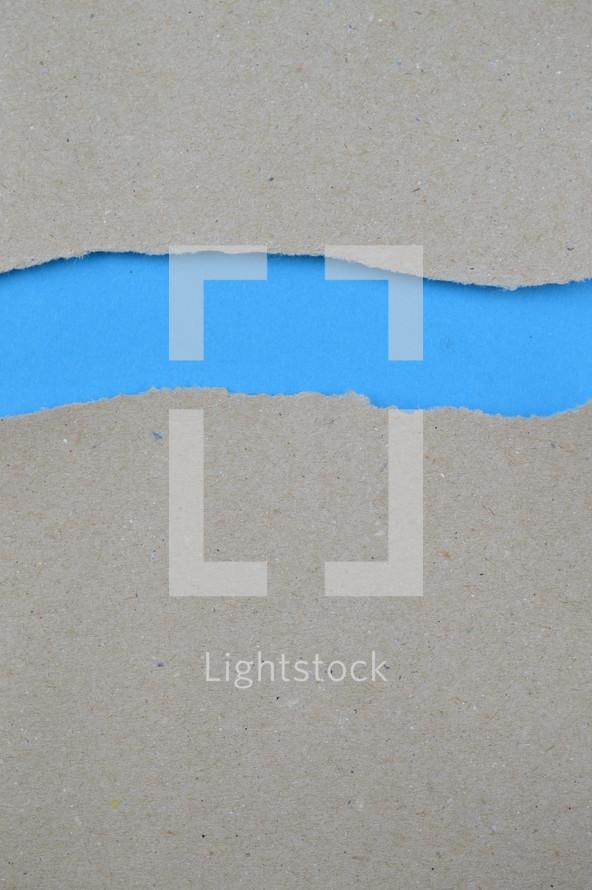 blank space between torn paper