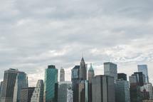 A big city of skyscrapers.