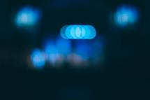 bokeh blue lights