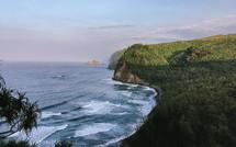cliffs along the shoreline of Pololu Valley