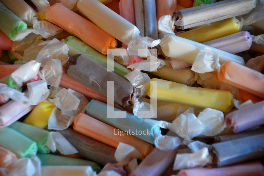 Pieces of taffy
