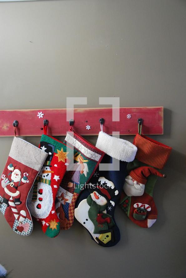 hung Christmas stockings