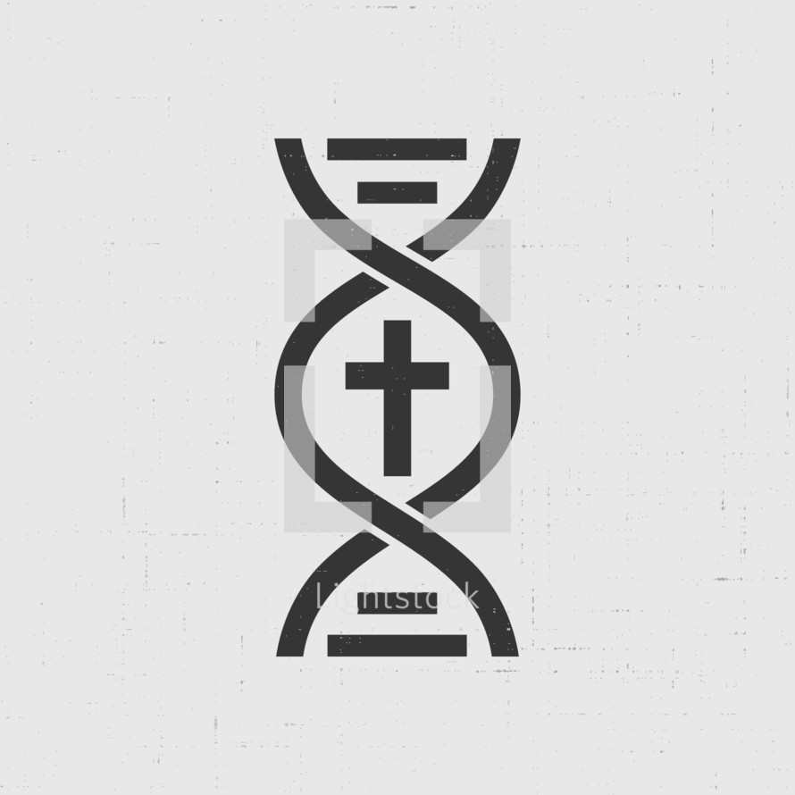 Cross in the centre of a DNA strand