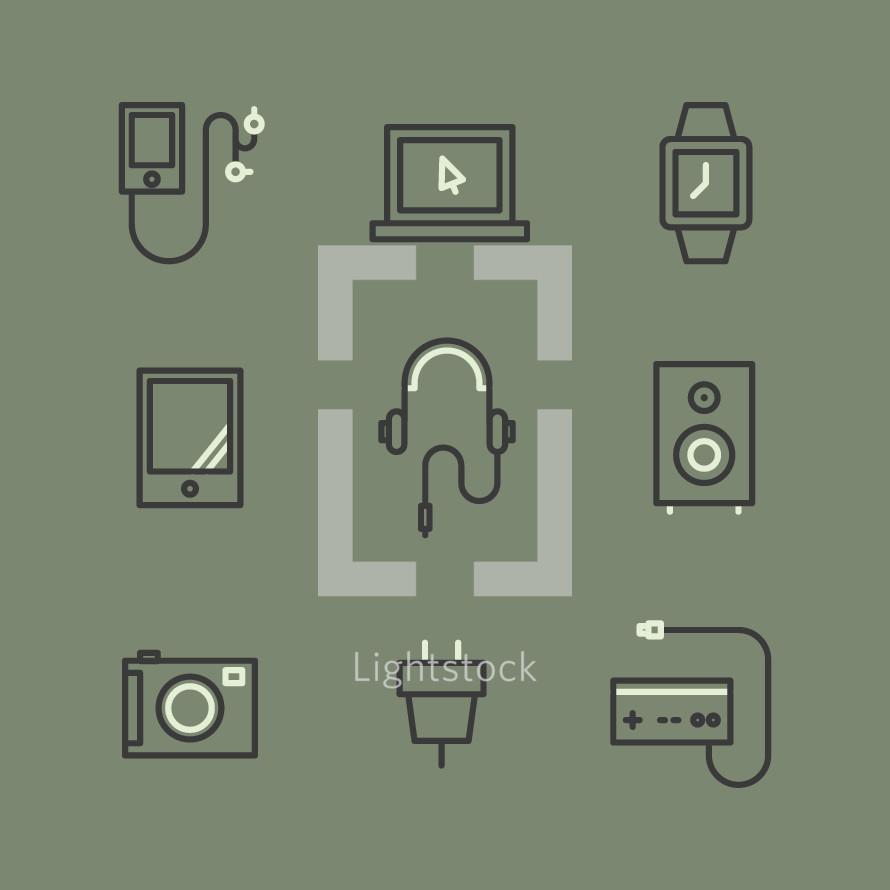 device icons set.