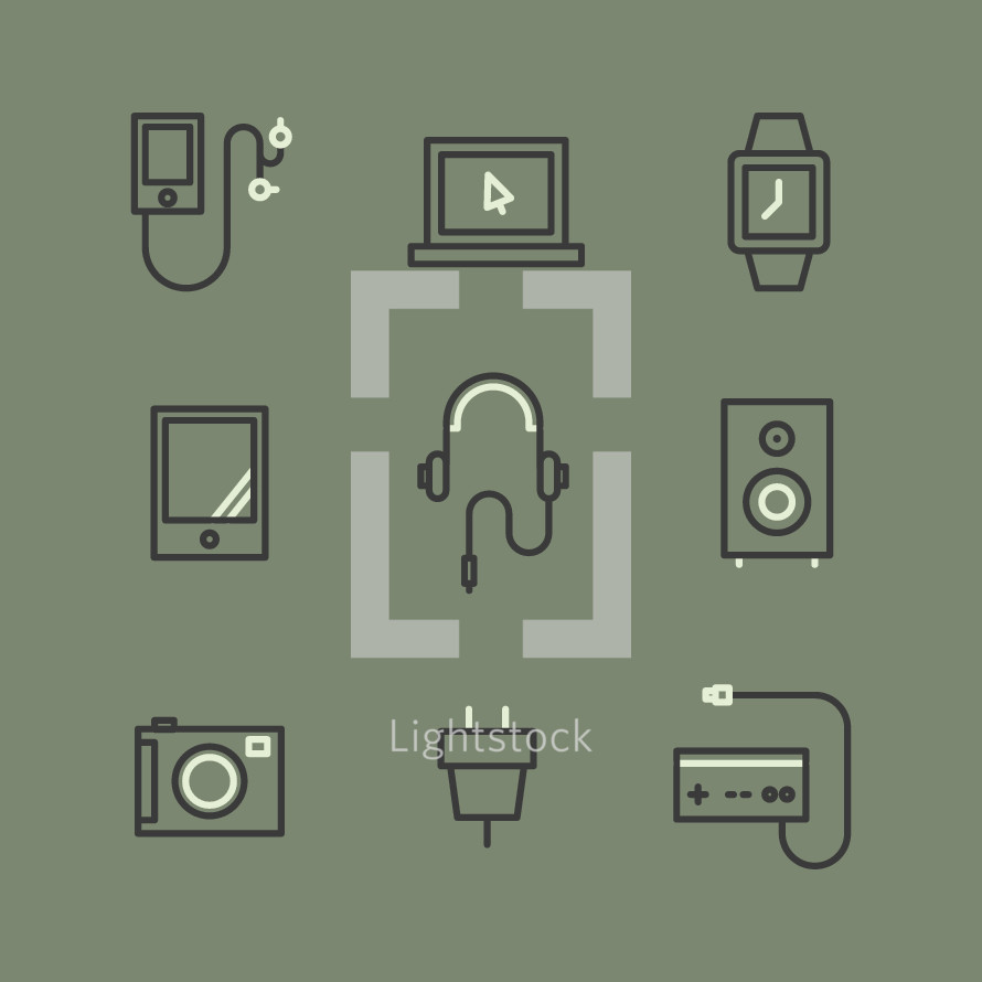 device icons set.