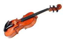 A violin on a white background.