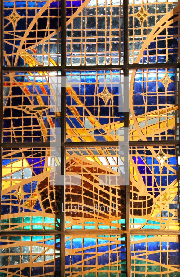 Glass window of Noah's Ark