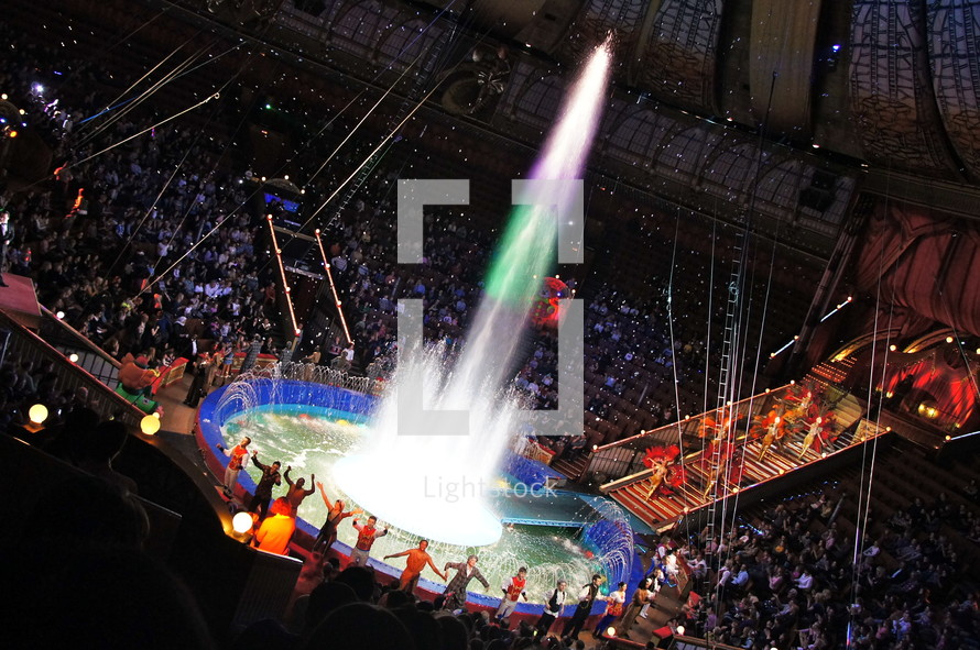 fountain at a performance