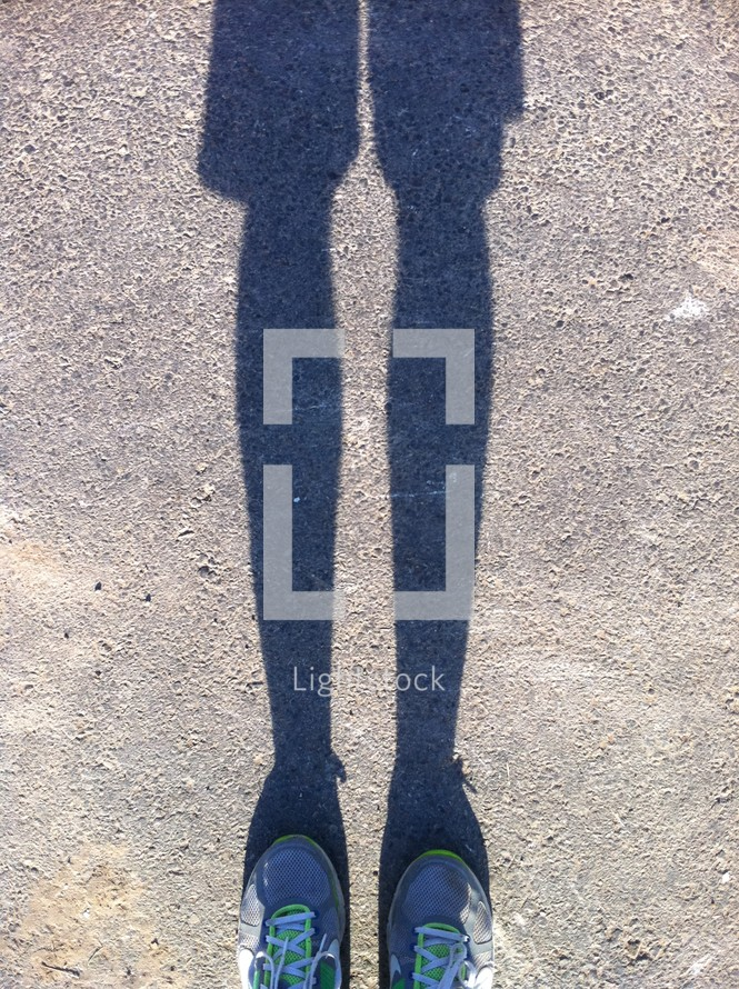 shadow of legs