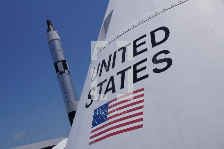 space rocket - flag