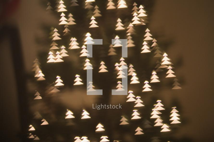 Tree Shaped Bokeh White Lights On A Christmas — Photo By Maura  - Christmas Tree Shaped Lights
