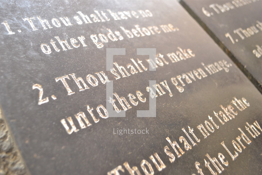 Second commandment of ten (10) commandements : Thou shalt not make unto thee any graven images