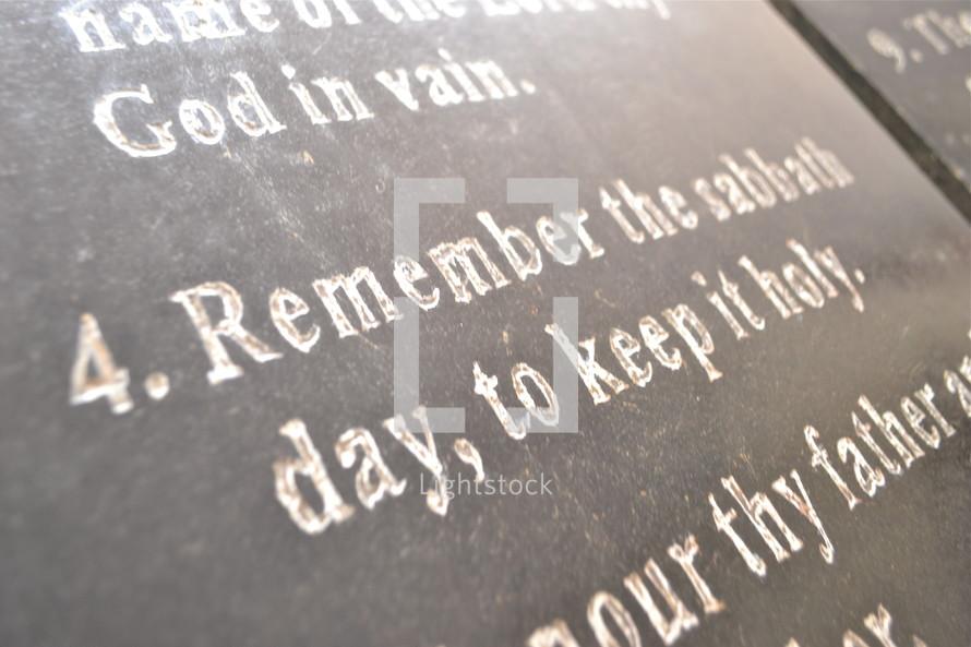 Fourth commandment of ten (10) commandments