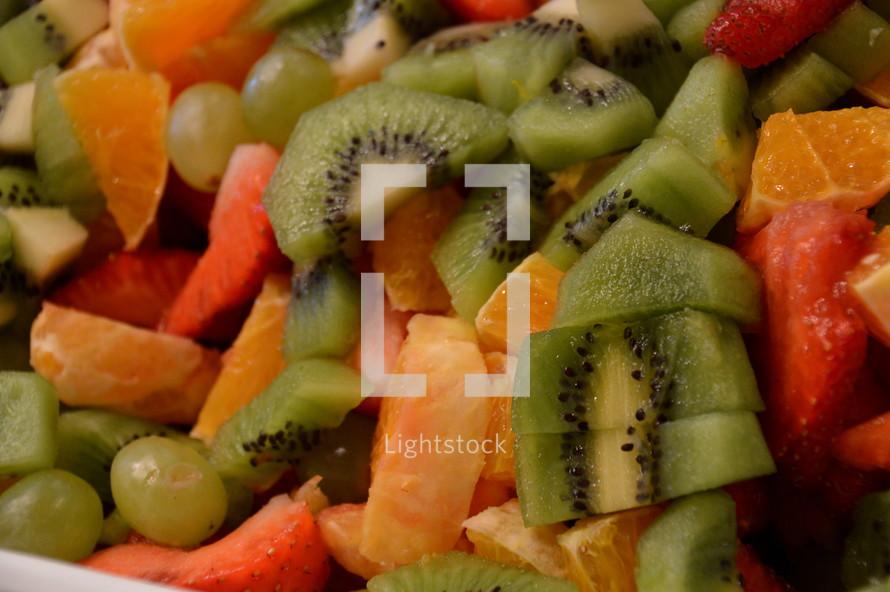 Colorful fresh fruit salad.