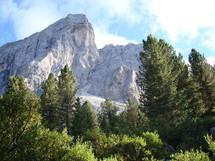 A mountain peak.