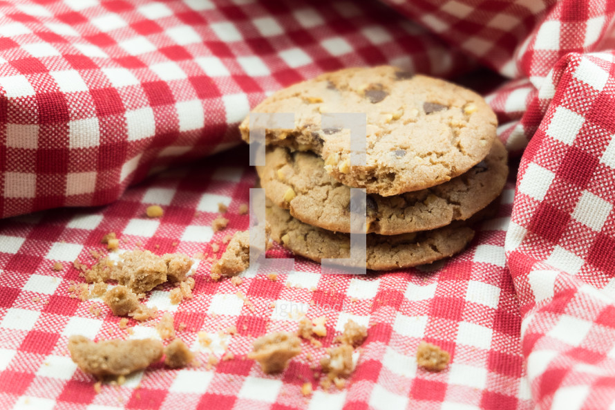 cookies on a picnic blanket