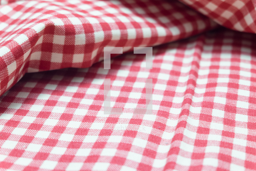 red and white picnic blanket
