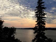 Dusk over the lake.