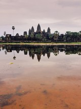 Temple across the water in Cambodia