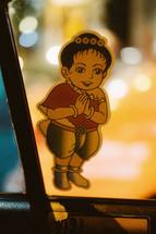 prayer girl sticker in Thailand