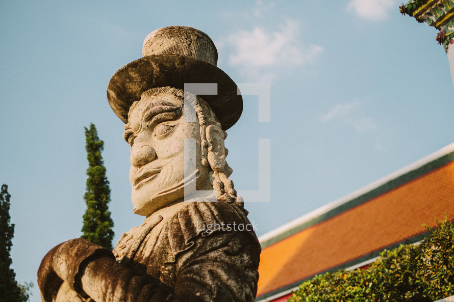 large stone statue in Thailand