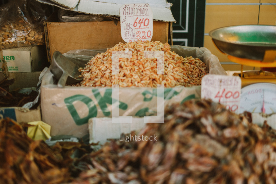 Spices at a market in Thailand.