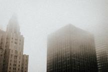 fog in New York City