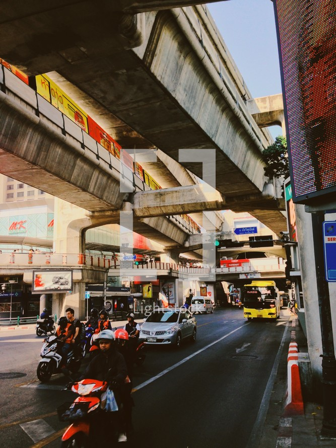 traffic on a busy street