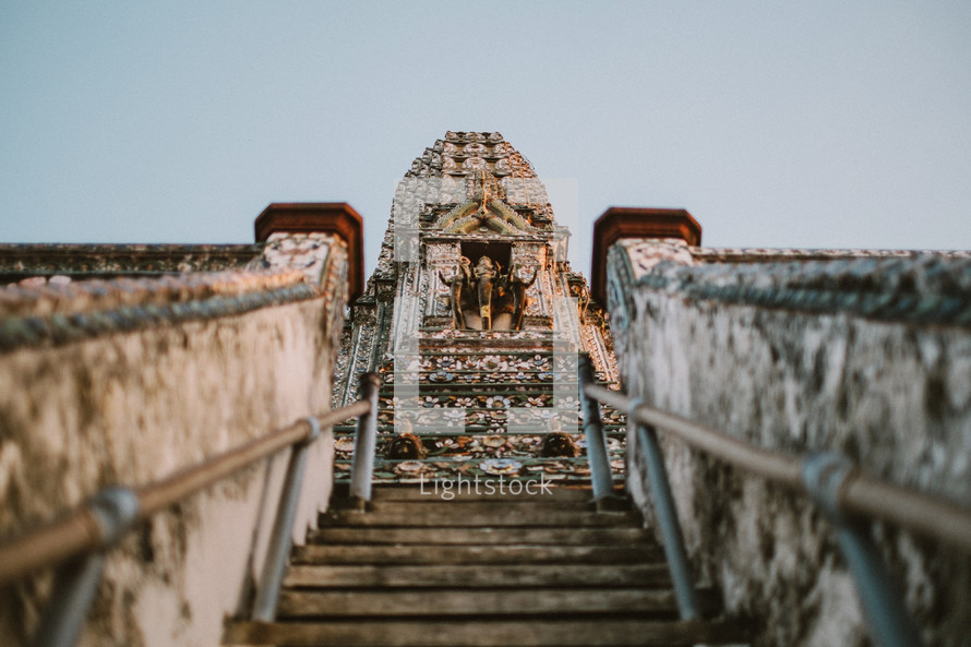 Steps to a temple in Thailand.
