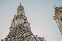 A temple tower in Thailand.