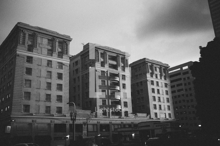 downtown apartment buildings