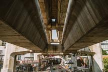 Under an overpass in Thailand
