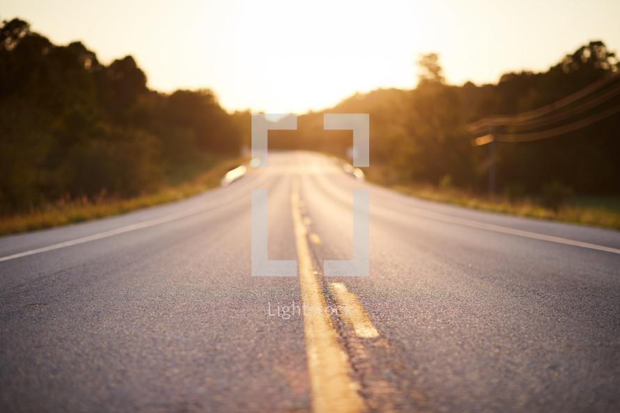 sunlight on a highway