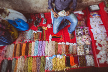 beads at a market